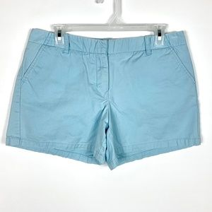 J Crew Factory Short Shorts Sz 8 Cotton Blue